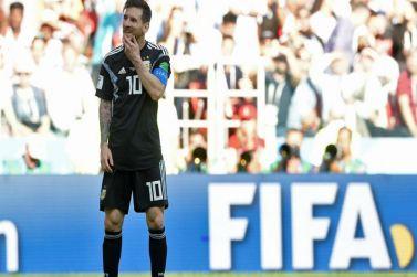 تعادل المنتخب الأرجنتيني مع المنتخب الأيسلندي