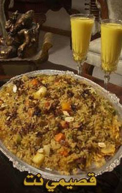 طريقة عمل الأرز بالخضار والبهارات